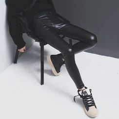 Sonne - Faux-Leather Stretch Skinny Pants