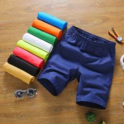 Alvicio - 纯色束腰短裤
