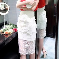 Clospace - Lace Midi Skirt