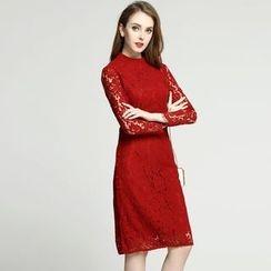 Elabo - Long-Sleeve Lace Dress