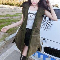 Be Bonita - Fleece-Lined Long Vest