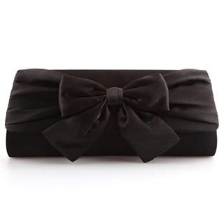 Ethel - Bow-Accent Satin Clutch