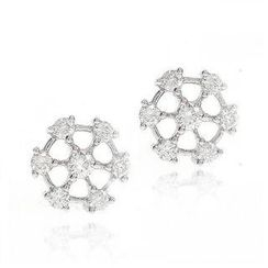Keleo - 18K White Gold Earrings with Diamonds
