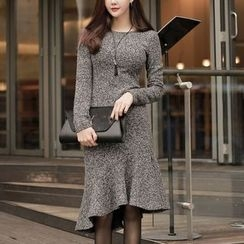 Aurora - Long-Sleeve Ruffled Dress