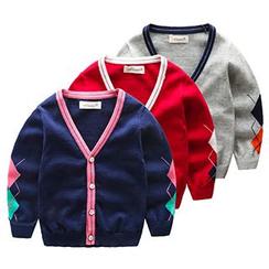 Kido - 小童撞色開衫