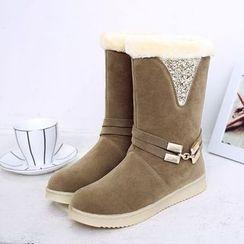 幸福鞋坊 - 短款雪靴