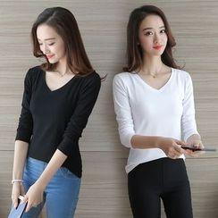 Yvette - V-Neck Long-Sleeve T-Shirt