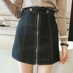 Little V - Zip A-Line Skirt