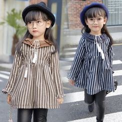 Spring Swallow - Kids Long-Sleeve Striped Dress