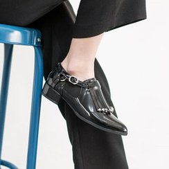 VIVIER - Studded-Detail Fringed Loafers