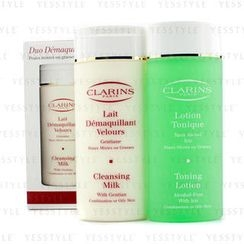Clarins - Cleansing Duo (Combination/Oily Skin): Cleansing Milk 200ml/7oz + Toning Lotion 200ml/6.8oz