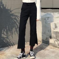 Phyllis - Fringed Capri Jeans
