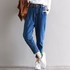 Fancy Show - Tapered Cropped Jeans