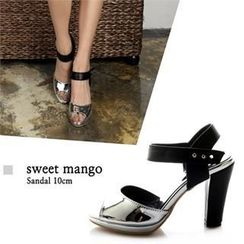 SWEET MANGO - Metallic Ankle-Strap Sandals