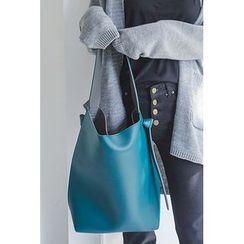 migunstyle - Color-Block Bucket Bag