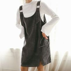 SUYISODA - Corduroy Pinafore Dress