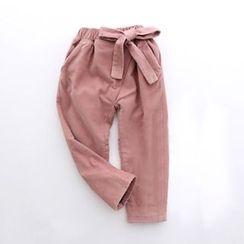 Rakkaus - Kids Fleece-Lined Lace-Up Pants
