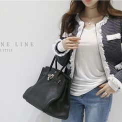NANING9 - Fringed Tweed Jacket