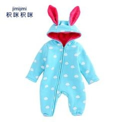 JIMIJIMI - Baby Rabbit Ear Hooded One-Piece