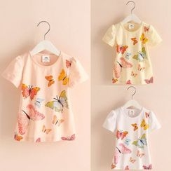 Seashells Kids - Kids Butterfly Print Short-Sleeve T-Shirt