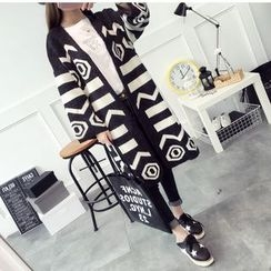 Hibisco - Geometric Print Long Cardigan