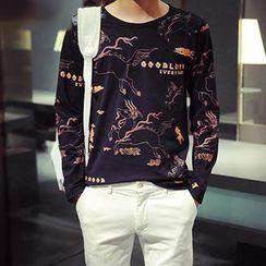 maxhomme - Print Long-Sleeve T-Shirt