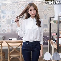 RingBear - Long  Sleeve Ruffle Shirt