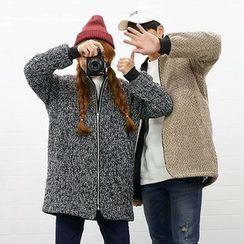 Seoul Homme - Padded Zip-UP Knit Jacket