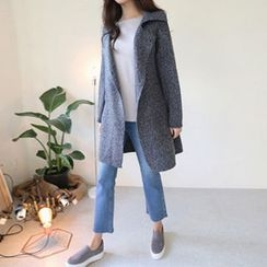 Hello sweety - Notched-Lapel Wool Blend Cardigan