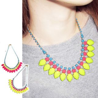 Clair Shop - Neon Jeweled Necklace