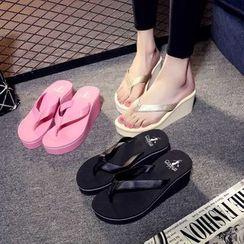 ELUNLANY - Wedge Flip-flops