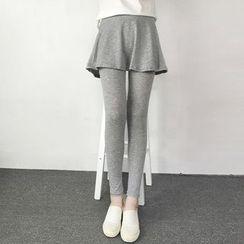 Bloombloom - Inset Skirt Leggings