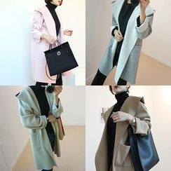 STYLEBYYAM - Hooded Open-Front Coat