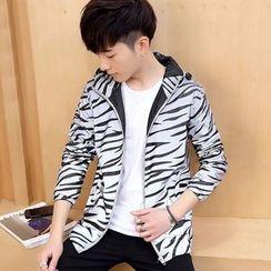 DTT - Zebra Print Hooded Jacket