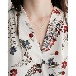 UPTOWNHOLIC - Round Drop Necklace