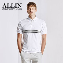 ALLIN - Applique Short Sleeve Polo Shirt
