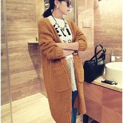 ENZA - Pocketed Long Chunky Cardigan