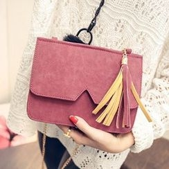Youme - Tassel Flap Shoulder Bag