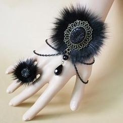 Fit-to-Kill - Fur Elegant Bracelet & Ring Set