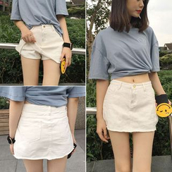 Glen Glam - A-Line Denim Skort