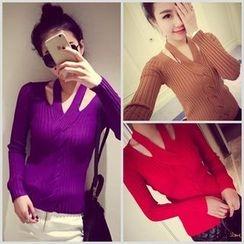 ENZA - Cutout Knit Top