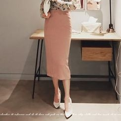 NANING9 - Pencil Midi Skirt