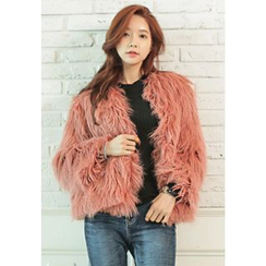 REDOPIN - Open-Front Faux-Fur Jacket
