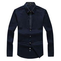 RUYA - Long-Sleeve Paneled Shirt