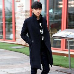 Bay Go Mall - Woolen Lapel Coat