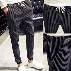 Bay Go Mall - Pinstriped Harem Pants