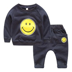DEARIE - Kids Set: Smiley Face Sweatshirt + Pants