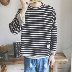 qiaqiayes - Striped Pullover