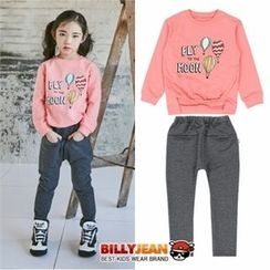 BILLY JEAN - Girls Set: Graphic Sweatshirt + Baggy-Fit Pants