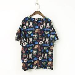 蘭芝 - 印花短袖T恤